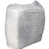 Bag of white towelling rags 10kg